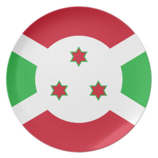 Vlag van de Wereld van Burundi de Nationale Melamine+bord