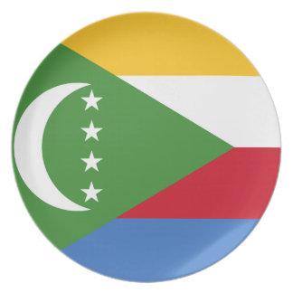 Vlag van de Wereld van de Comoren de Nationale Bord