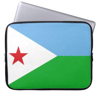 Vlag van de Wereld van Djibouti de Nationale Computer Sleeve
