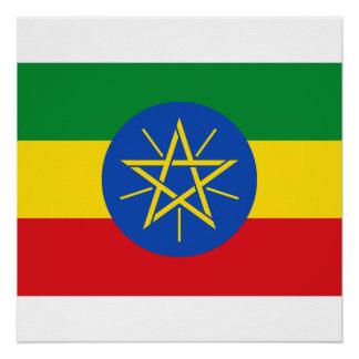 Vlag van de Wereld van Ethiopië de Nationale Poster