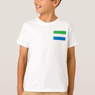 Vlag van de Wereld van het Sierra Leone de T Shirt