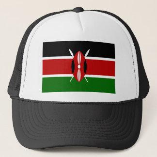 Vlag van de Wereld van Kenia de Nationale Trucker Pet