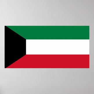 Vlag van de Wereld van Koeweit de Nationale Poster
