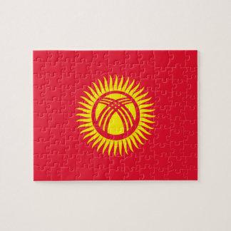 Vlag van de Wereld van Kyrgyzstan de Nationale Puzzel