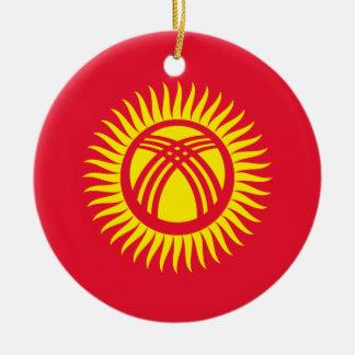Vlag van de Wereld van Kyrgyzstan de Nationale Rond Keramisch Ornament
