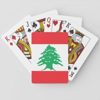 Vlag van de Wereld van Libanon de Nationale Speelkaarten
