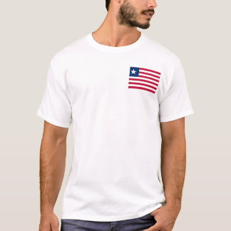 Vlag van de Wereld van Liberia de Nationale T Shirt