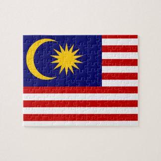 Vlag van de Wereld van Maleisië de Nationale Legpuzzel