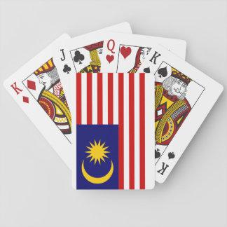 Vlag van de Wereld van Maleisië de Nationale Speelkaarten