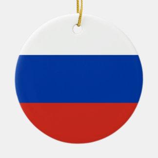 Vlag van de Wereld van Rusland de Nationale Rond Keramisch Ornament
