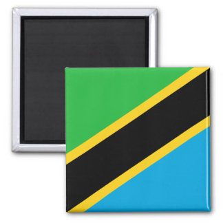 Vlag van de Wereld van Tanzania de Nationale Magneet