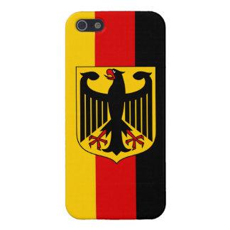 Vlag van Duitsland met Glanzende iPhone 5 van iPhone 5 Case