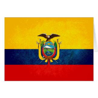 Vlag van Ecuador Briefkaarten 0