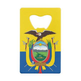 Vlag van Ecuador Creditkaart Flessenopener