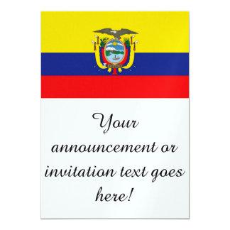Vlag van Ecuador Kaart