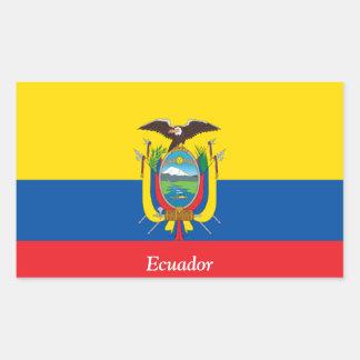 Vlag van Ecuador Rechthoekige Sticker