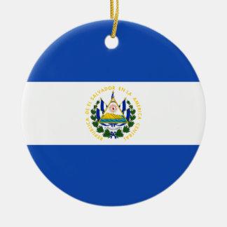 Vlag van El Salvador - Bandera DE El Salvador Rond Keramisch Ornament