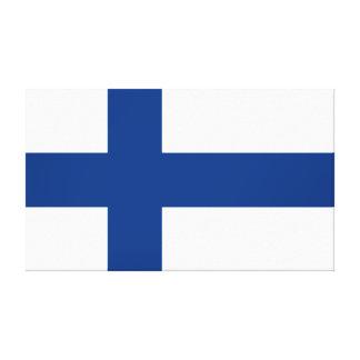 Vlag van Finland Blauwe DwarsSuomi Canvas Print