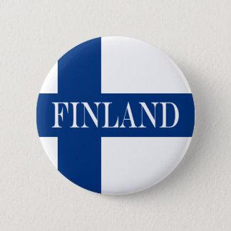 Vlag van Finland Blauwe DwarsSuomi Ronde Button 5,7 Cm