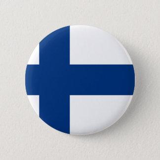 Vlag van Finland - Suomen Lippu - Siniristilippu Ronde Button 5,7 Cm