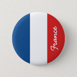 Vlag van Frankrijk Ronde Button 5,7 Cm