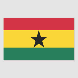 Vlag van Ghana Rechthoek Stickers