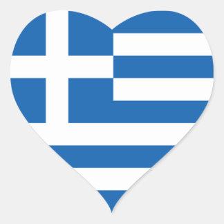 Vlag van Griekenland Hart Sticker