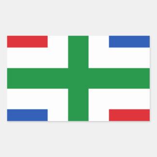 Vlag van Groningen (provincie) Rechthoek Sticker