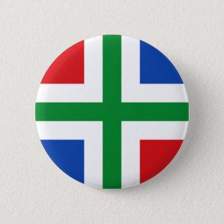 Vlag van Groningen (provincie) Ronde Button 5,7 Cm