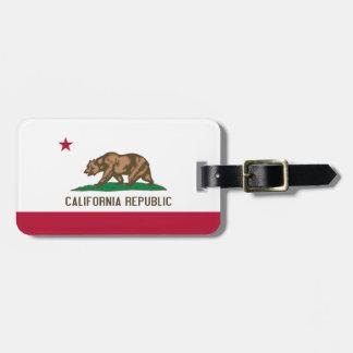 Vlag van het Californië Gepersonaliseerde Label Bagagelabel