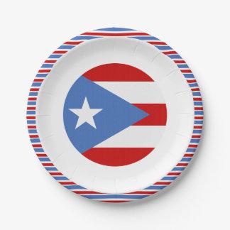 Vlag van het Dessert van Puerto Rico Papieren Bordje
