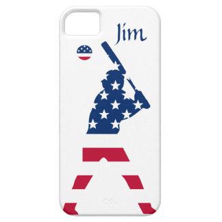 Vlag van het Honkbal Amerikaan van Amerika Barely There iPhone 5 Hoesje