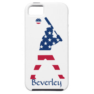 Vlag van het Honkbal Amerikaan van Amerika Tough iPhone 5 Hoesje