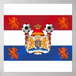 Vlag van het Kunstwerk van het Voetbal van Holland