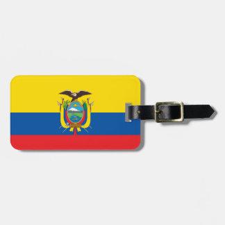 Vlag van het Label van de Bagage van Ecuador met Kofferlabel