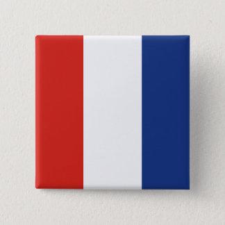 Vlag van het Signaal van de tango (t) de Vierkante Button 5,1 Cm