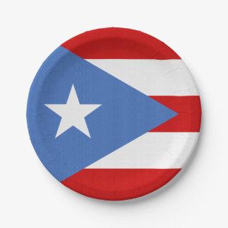 Vlag van het Thema van Puerto Rico Papieren Bordje