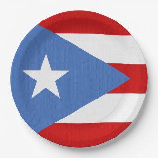Vlag van het Thema van Puerto Rico Papieren Bordjes