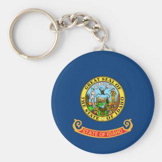 Vlag van Idaho Basic Ronde Button Sleutelhanger