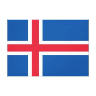 Vlag van IJsland Canvas Afdruk