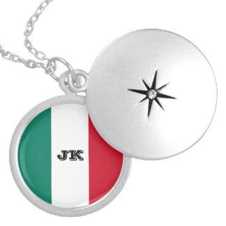 Vlag van Italië Italië het Italiaans Zilver Vergulden Ketting