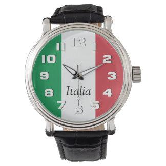 Vlag van Italië Polshorloge