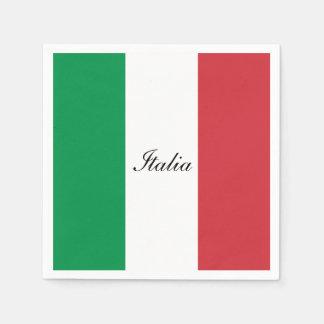 Vlag van Italië Wegwerp Servet