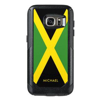 Vlag van Jamaïca met Gepersonaliseerde Naam OtterBox Samsung Galaxy S7 Hoesje
