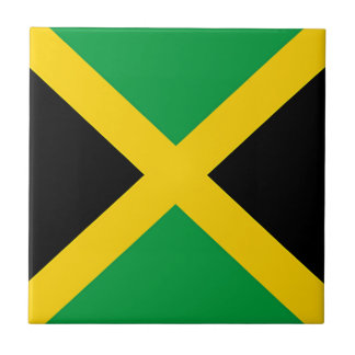 Vlag van Jamaïca Tegeltje Vierkant Small