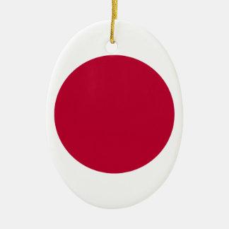 Vlag van Japan - 日章旗 - 日の丸 - 日本の国旗 Keramisch Ovaal Ornament