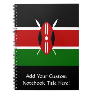 Vlag van Kenia Afrika Ringband Notitieboek