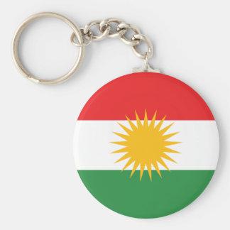 Vlag van Koerdistan; Koerd; Koerdisch Basic Ronde Button Sleutelhanger