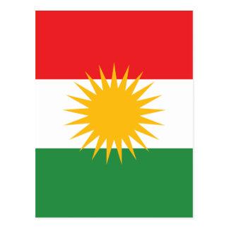 Vlag van Koerdistan; Koerd; Koerdisch Briefkaart