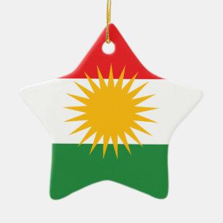 Vlag van Koerdistan; Koerd; Koerdisch Keramisch Ster Ornament